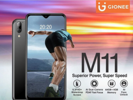 Gionee M11 Price In Nigeria