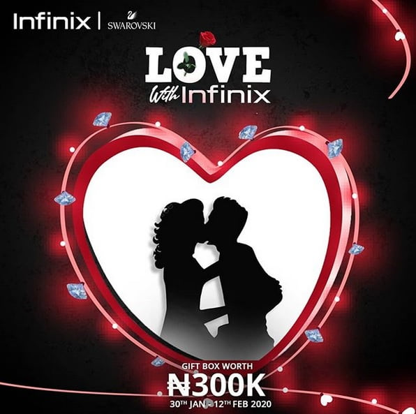 Valentine Promo: Get N300,000 Gift Box From Infinix