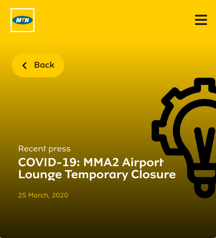 Covid 19 Update: MTN Nigeria Isolates Suspected Staffs