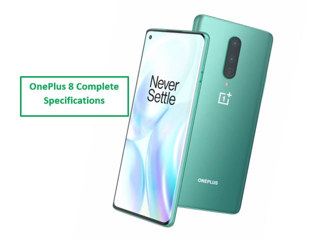 OnePlus 8 Complete Specifications