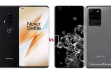 OnePlus 8 Pro vs Galaxy S20 Ultra