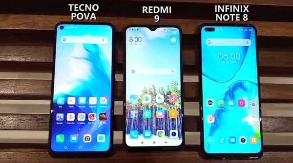 Buyers Guide: Tecno Pova vs Redmi 9 vs Infinix Note 8