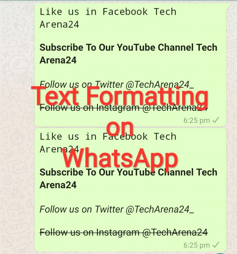 How to Format Texts on WhatsApp (Android)