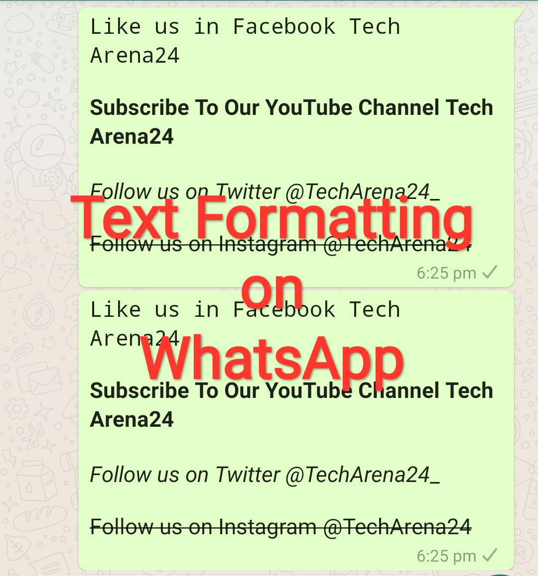 How to format texts on WhatsApp
