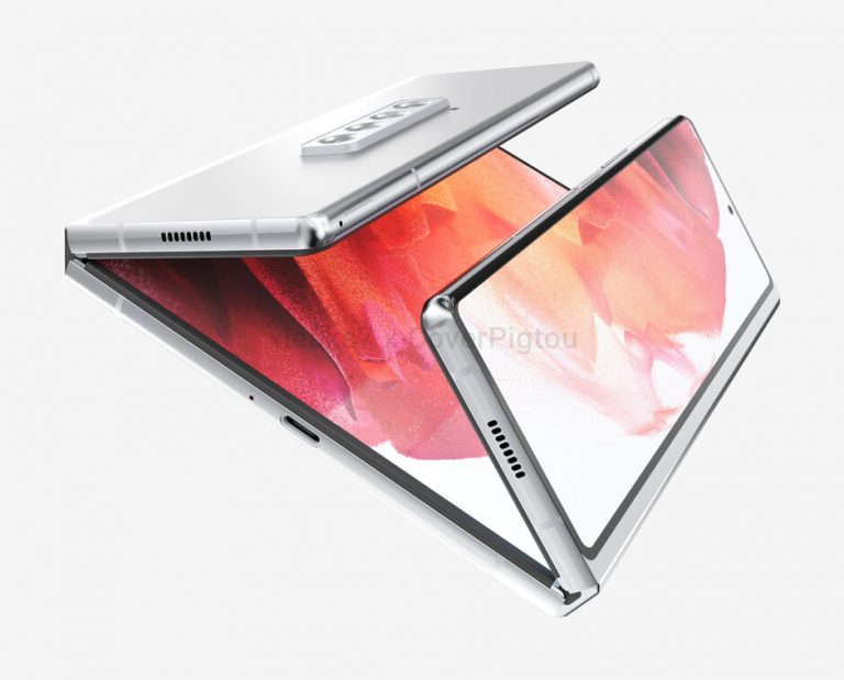 Render Show Samsung Galaxy Z Fold 3 With Two Folds