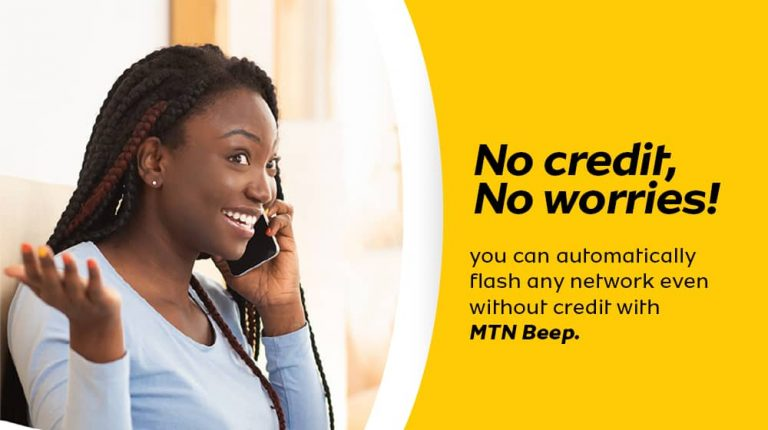 MTN Beep allows you to Make Calls with Zero Airtime
