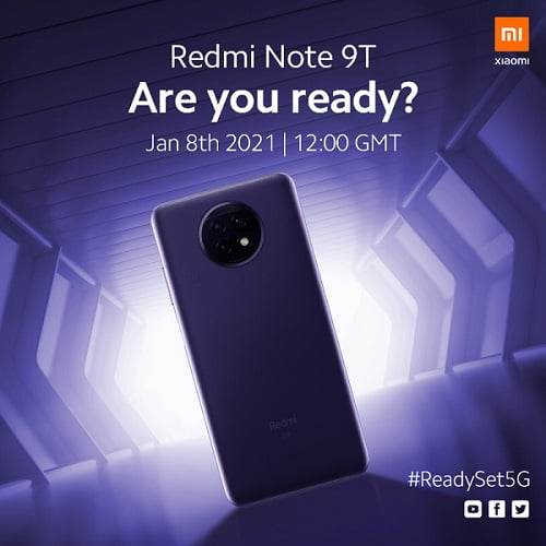 Redmi Note 9T To Launch January 8 – Say Hello To Affordable 5G Phone