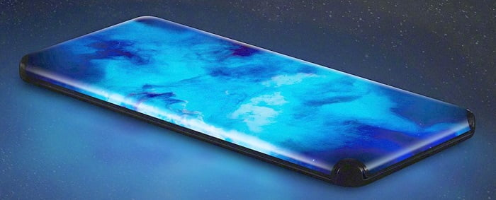 Quad Curved Waterfall Display