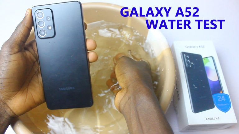 Samsung Galaxy A52 water test was Successful with no fault