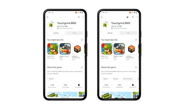 New Android 12 gaming Feature to allow users play games while it's downloading